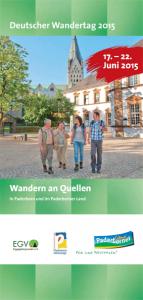 Flyer zum Wandertag, Copyright: Deutscher Wandertag 2015.