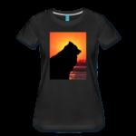 Damen-T-Shirt schwarz mit Eurasier-Motiv