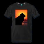 Herren-T-Shirt schwarz mit Eurasier-Motiv